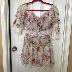 Anthropologies Floral Dress Size 2 Alice & Olivia